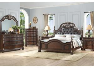 Image for B1754- KING BED, DRESSER, MIRROR, 1 NIGHT STAND