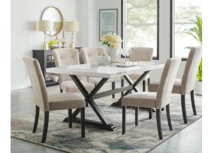 LEXI- TABLE & 6 CHAIRS
