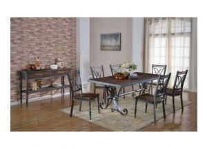D1669- TABLE & 4 CHAIRS