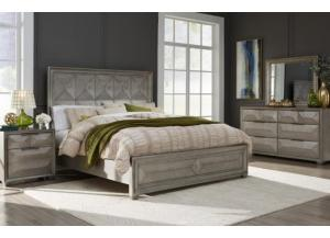 SOHO- QUEEN BED, DRESSER, MIRROR, 1 NIGHT STAND