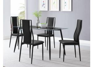 Image for D4500+4501 Table & 4 chairs