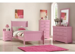 Image for B291- TWIN BED, DRESSER, MIRROR, CHEST, 1 NIGHT STAND