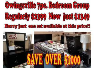 owingsville 7pc Bedroom Group