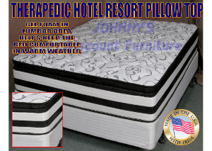 Hotel Resort Plush Pillow Top King Mattress w/ Foundation