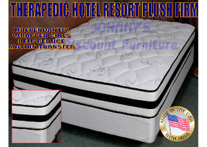 Hotel Resort Plush Firm Full Mattress w/ Foundation