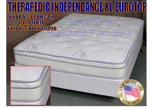 Contour Care Independance Euro Top Twin Mattress w/ Foundation