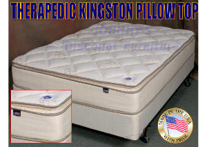 Kingston Premium Pillow Top Twin Mattress w/ Foundation