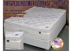 Posture Rest Majestic Pillow Top Twin Mattress w/ Foundation