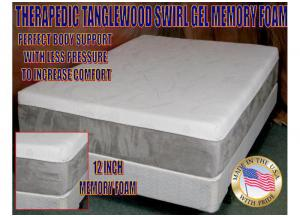 Tanglewood Memory Touch 12 inch FuturaGel Memory Foam Queen Mattress