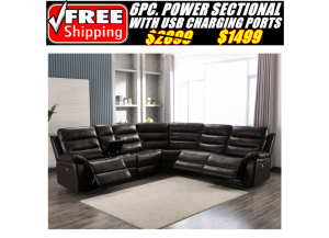 Image for 6450 Power Reclining Sectional
