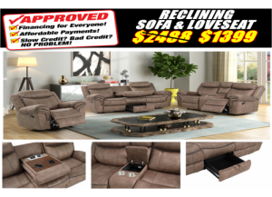 Image for 2200 SOFA  & LOVESEAT RECLINING SET (FREE RECLINER)