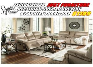 Image for 7770288/94 RECLINING SOFA + LOVESEAT BY ASHLEY