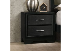 Image for 8133B BLACK NIGHTSTAND