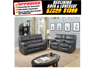 Image for 0040 RECLINING SOFA & LOVESEAT