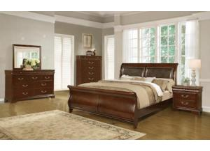 4116 QUEEN BED,DRESSER & MIRROR
