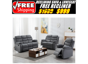 Image for 6012 SOFA+LOVESEAT RECLINING SET(FREE RECLINER)