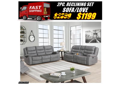 Image for GRANADA RECLINING SOFA & LOVESEAT