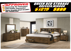 Image for 8308 QUEEN STORAGE BED,DRESSER,MIRROR