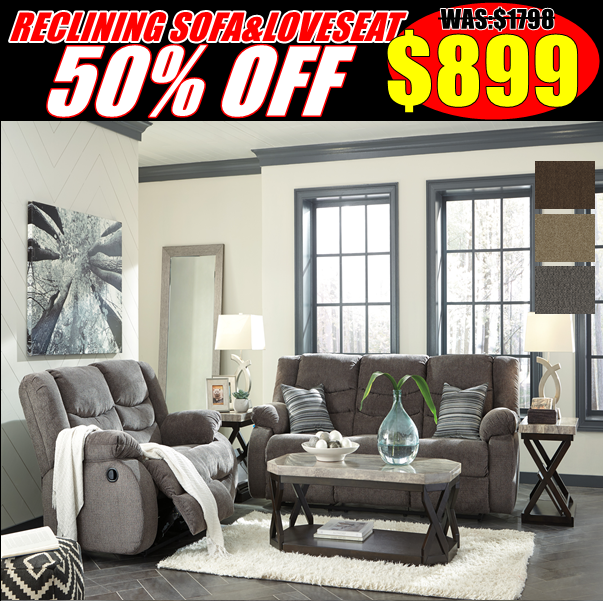 50% Off Reclining Sofa and Love seat