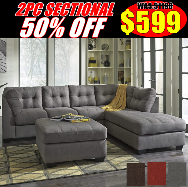 50% Off 2pc Sectional