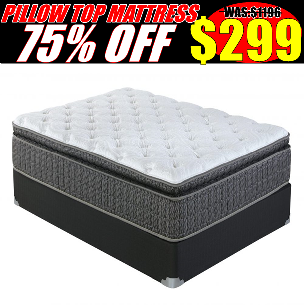 75% Off Pillow Top Mattress
