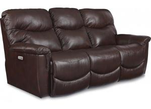 La-Z-Boy James Power Headrest & Power Reclining Leather Sofa 44U521 LB152078
