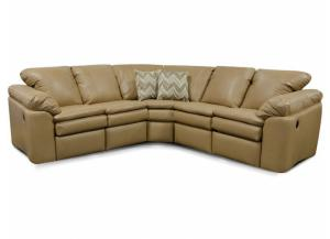 England 7300L Sectional in Salvador Leather