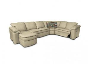 Image for England Lackawanna Salvador Blonde Leather Sectional