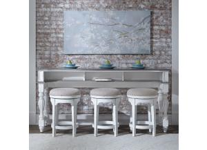 Liberty Magnolia Manor Console Table & 3 Stools