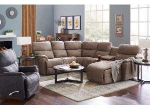 La-Z-Boy Trouper Sectional with iClean Fabric