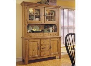 BROYHILL ATTIC HEIRLOOMS HUTCH TOP & BASE