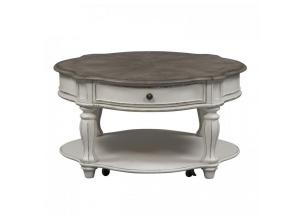 Liberty Magnolia Manor Round Cocktail Table