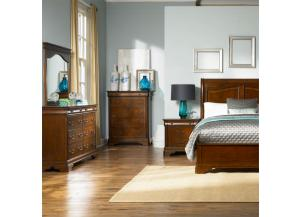 Liberty Alexandria Queen Bedroom Group with Queen Bed, Dresser, Mirror, Chest, & Nightstand
