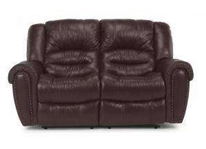 "Image for Flexsteel ""Crosstown"" Leather Reclining Loveseat"