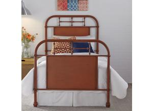 Liberty Twin Orange Metal Bed