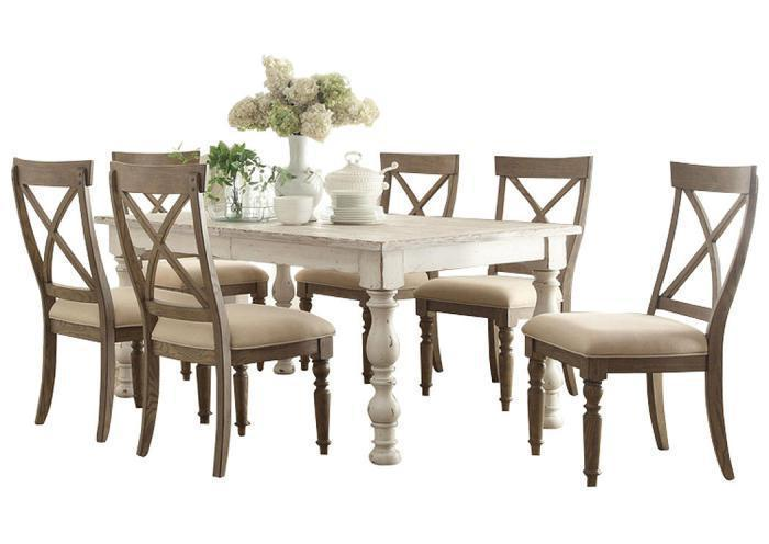 Templeton 5Pc Dining Set With X-Back Chairs,Riverside