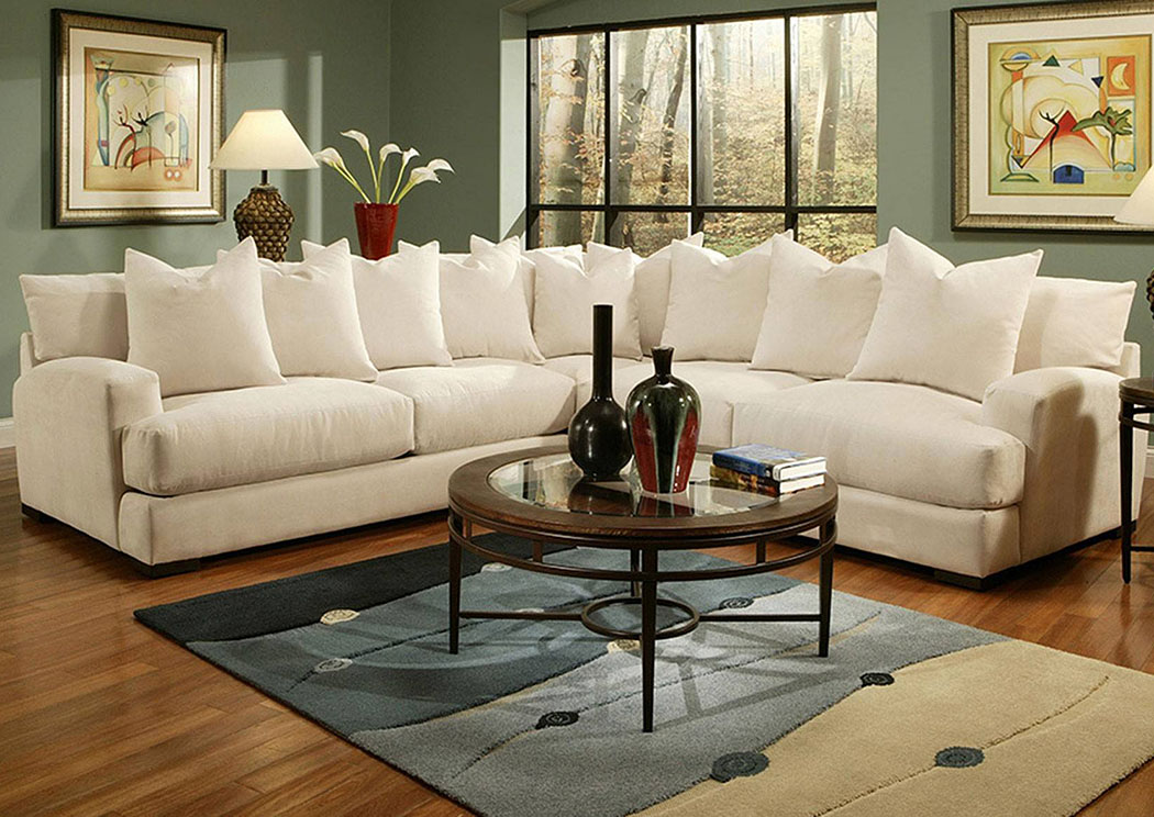 Carlin 3Pc Sectional,Jonathan Louis