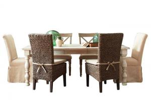 Templeton 5 Pc Dining Set With Parsons Chairs