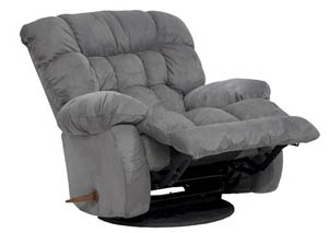 Teddy Graphite Swivel Rocker Recliner