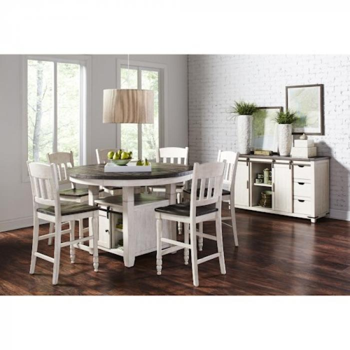 Counter High Round Table.Kirk Imports Madison County Counter High Round Dining Table And 4 Stools
