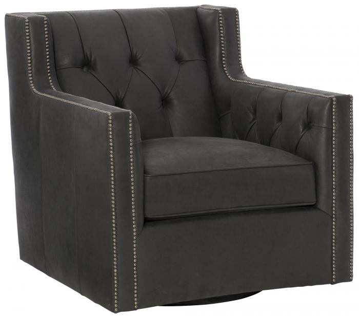 CANDACE LEATHER SWIVEL CHAIR 7272SLO,Bernhardt