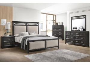 Ashton King Bed, Dresser, Mirror, Nightstand and Chest