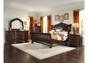 Valencia King Bed, Dresser, Mirror, Nightstand and Chest Set