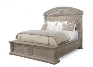 Arch Salvage - King Chambers Panel Bed - Parch