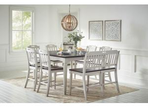 Orchard Park Counter Height Dining Table with 4 Chairs and Bench
