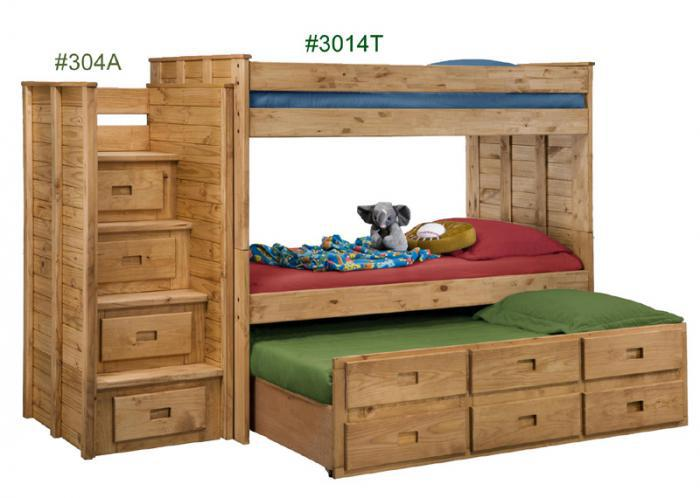 Bunkbed w/ Storage Trundle,Pinecrafter