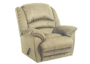 Hazelnut Chaise Rocker Recliner