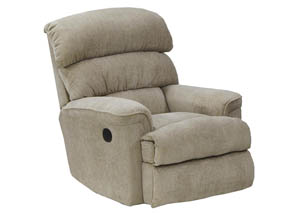 Linen Chaise Rocker Recliner