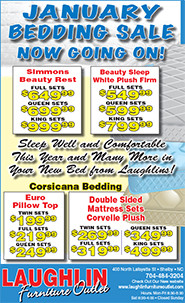 January Bedding Sale