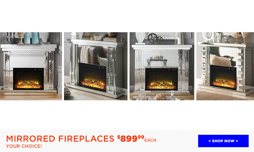 Mirrored Fireplaces